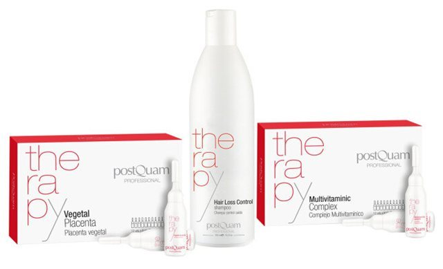 PostQuam Therapy hair loss set Vegetal placenta + multivitamin complex + hair loss control shampoo
